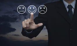 Оценка обслуживания клиента дела и концепция оценки обратной связи стоковые фотографии rf