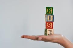Оценка степени риска или план организационной деятельности стоковое изображение