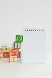Оценка степени риска или план организационной деятельности стоковые изображения rf