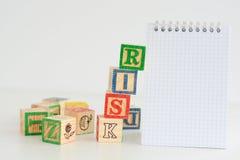 Оценка степени риска или план организационной деятельности стоковые фотографии rf