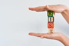 Оценка степени риска или план организационной деятельности стоковые фото