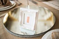 Оцифровка таблиц свадьбы Стоковое Фото