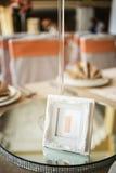 Оцифровка таблиц свадьбы Стоковая Фотография RF