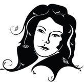 очарование девушки иллюстрация вектора