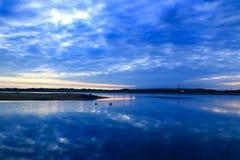 Очаровательный пейзаж рассвета стороной озера 3 jingpo Стоковое фото RF