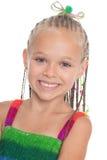 Очаровательная девушка 6 лет стоковое фото