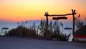 Очаровательная перспектива от Santorini Стоковое Фото