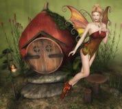 Очаровательная фея иллюстрация вектора