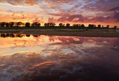 Очаровательный заход солнца Стоковое Изображение RF
