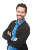 Очаровательный усмехаться молодого человека стоковая фотография rf