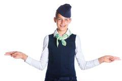 Очаровательный Stewardess девушки стоковые изображения