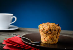 Очень вкусная булочка и кофе Стоковые Изображения