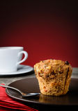 Очень вкусная булочка и кофе Стоковая Фотография RF