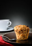 Очень вкусная булочка и кофе Стоковые Фото