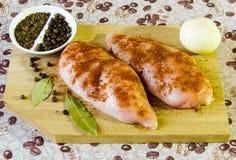 Очень вкусная варя куриная грудка стоковое изображение