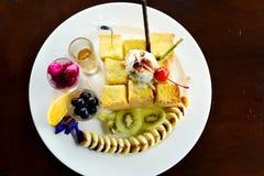 Очень вкусная еда здравицы меда для обеда стоковая фотография