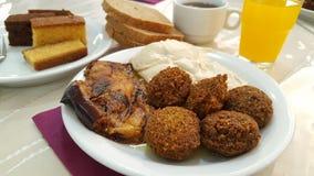 Очень вкусная еда Израиля, falafel стоковая фотография