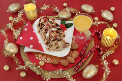 Очень вкусная еда рождества Стоковое фото RF