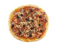 Очень вкусная итальянская пицца при изолированные томаты и перец Стоковое Изображение RF