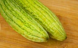 Очень вкусная и здоровая органически, который выросли горьк-тыква стоковое изображение