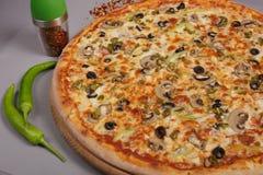 Очень вкусная пицца Mexicana стоковое фото rf