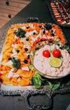 Очень вкусная плита филе рыб Стоковые Фотографии RF