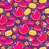 Очень вкусная предпосылка с конфетой и плодоовощами иллюстрация вектора