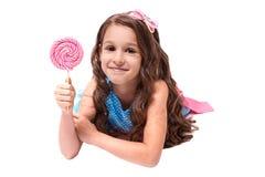 Очень вкусная сладость Пестротканые леденцы на палочке балерина немногая стоковое изображение rf