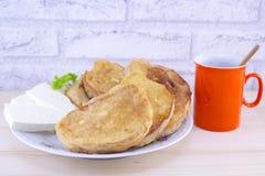 Очень вкусная французская здравица с сыром и кофе Стоковые Изображения RF