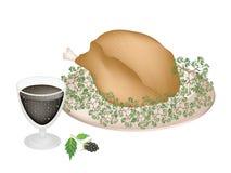 Очень вкусное жаркое Турция и травы с ежевикой f бесплатная иллюстрация