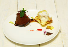 Очень вкусное испеченное maffin или пирожное стоковое изображение rf