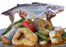 Очень вкусное карри рыб Стоковые Фото