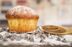 Очень вкусное домодельное пирожное десерта торта булочки Стоковое Фото