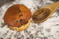 Очень вкусное домодельное пирожное десерта торта булочки Стоковые Изображения RF