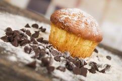 Очень вкусное домодельное пирожное десерта торта булочки Стоковое фото RF