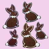 Очень вкусное печенье зайчика пасхи шоколада Стоковая Фотография RF