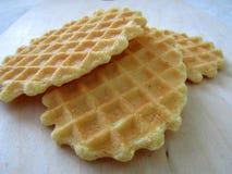 Очень вкусное печенье waffle Стоковое фото RF
