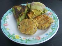 Очень вкусное, пребывание ест простое с тайским десертом Стоковое Изображение