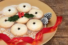 Очень вкусное рождество семенит пироги Стоковое фото RF