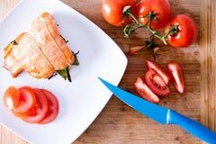 Очень вкусное свеже зажаренное в духовке свежее salmon филе стоковые изображения