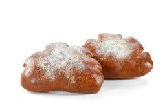 Очень вкусное сладостное печенье изолированное на белизне Стоковая Фотография