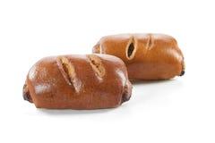 Очень вкусное сладостное печенье на белизне Стоковые Изображения
