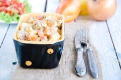 Очень вкусное тушёное мясо чечевицы и овоща Стоковое Изображение