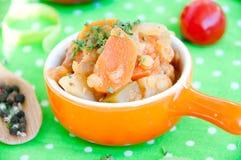 Очень вкусное тушёное мясо чечевицы и овоща Стоковая Фотография