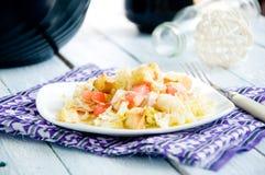 Очень вкусное тушёное мясо чечевицы и овоща Стоковое Изображение RF