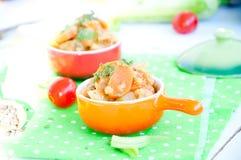 Очень вкусное тушёное мясо чечевицы и овоща Стоковые Фотографии RF