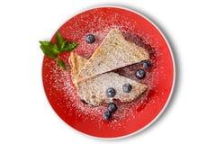 Очень вкусное panini варенья голубики с свежими ягодами стоковое изображение