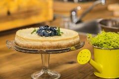 Очень вкусной торт испеченный помадкой с плодоовощ Стоковые Фото