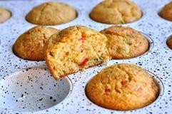 Очень вкусные булочки в лотке для печь хлебопекарня домодельная Стоковые Фото