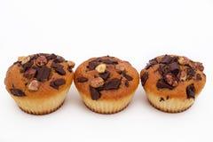 Очень вкусные булочки с шоколадом и фундуком стоковые фото